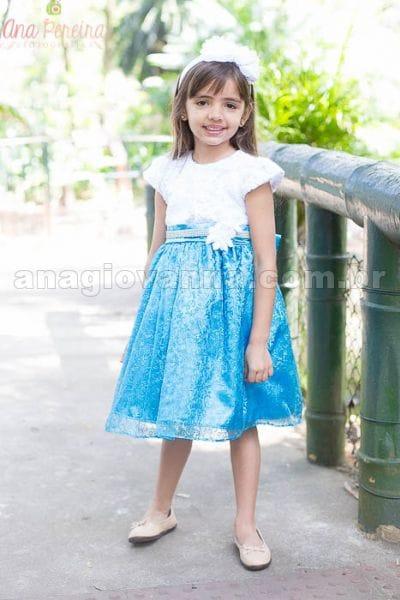 Vestido Infantil de Festa Frozen Elsa