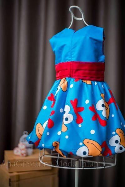 Vestido Galinha Pintadinha Baby Azul