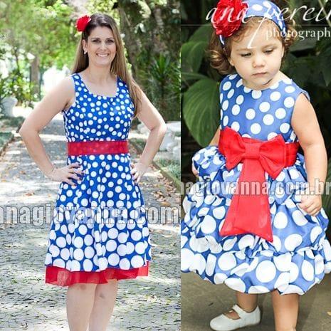 Vestidos Tal Mãe Tal Filha da Galinha Pintadinha