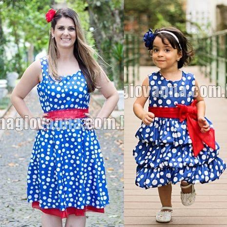 Vestidos da Galinha Pintadinha Mãe e Filha