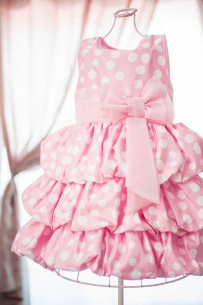 Vestido de festa tema Minnie Rosa