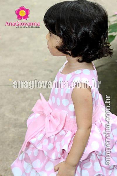 Vestido da Minnie Rosa Balonê com Bolas Degradê