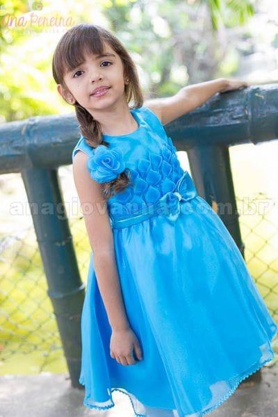 Vestido da Frozen Elsa Azul