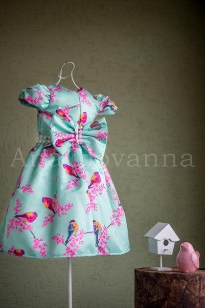 Vestido Infantil para Festa Pássaros