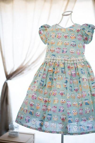 Vestido Infantil Corujinhas