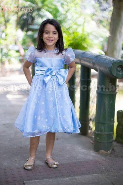 Vestido de Festa da Frozen Infantil