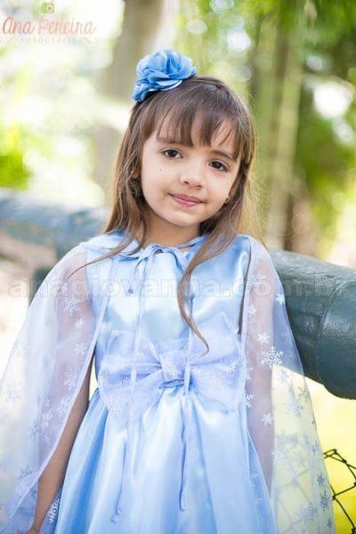 Vestido Elsa Infantil com capa