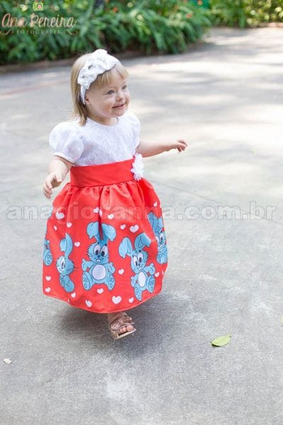 Vestido para Festa Infantil Mônica