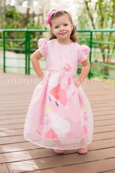 Vestido Infantil Peppa Pig Fada Luxo