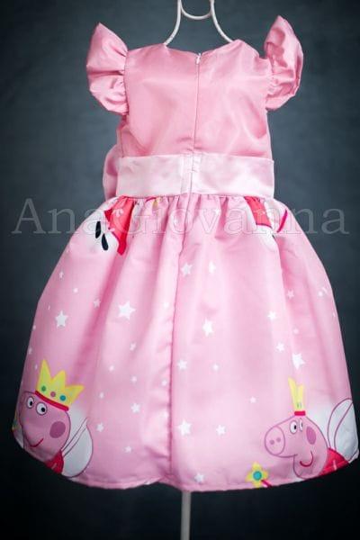 Vestido Peppa Pig Fada Princesinha