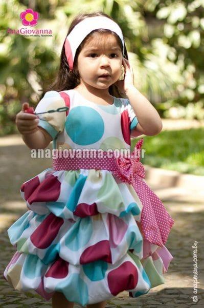 Vestido Patati Patata Balonê com Mangas