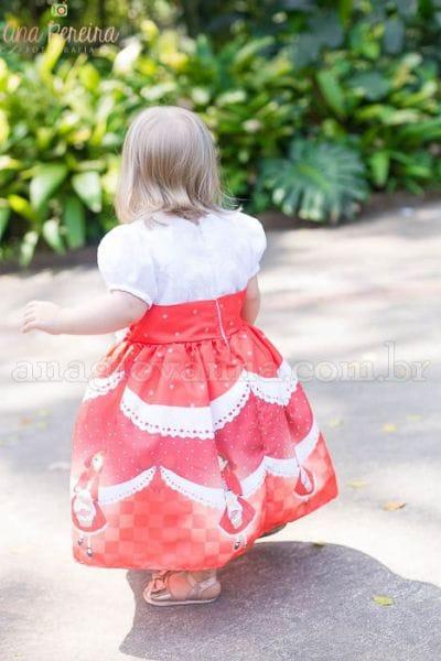 Vestido para Festa Infantil da Chapeuzinho Vermelho