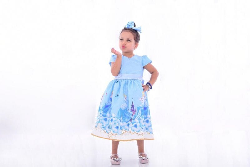 Vestido infantil Cinderela para festa