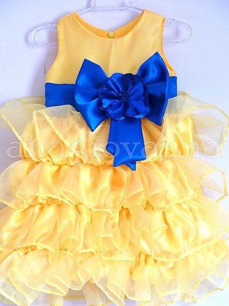 Vestido para festa infantil dos Minions