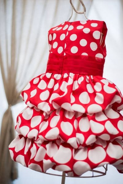 Vestido Infantil da Minnie Vermelha