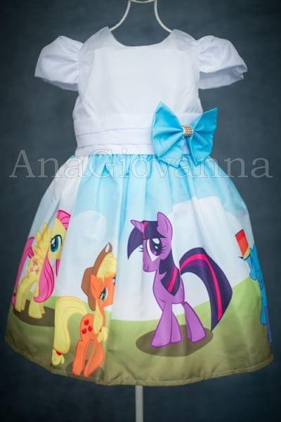 Vestido Infantil de festa My Little Pony