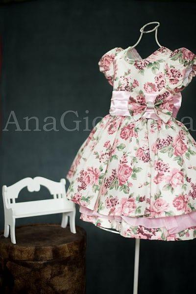 Vestido Floral Infantil para Festa