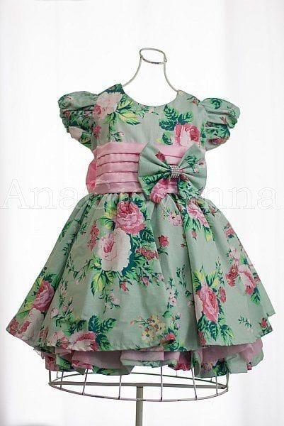 Vestido Floral de Festa Infantil