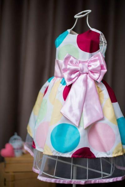 Vestido Patati Patata com laço Rosa