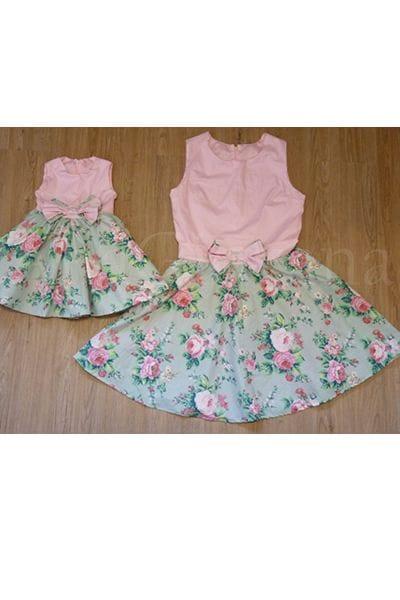 Vestidos Tal Mãe Tal Filha Floral
