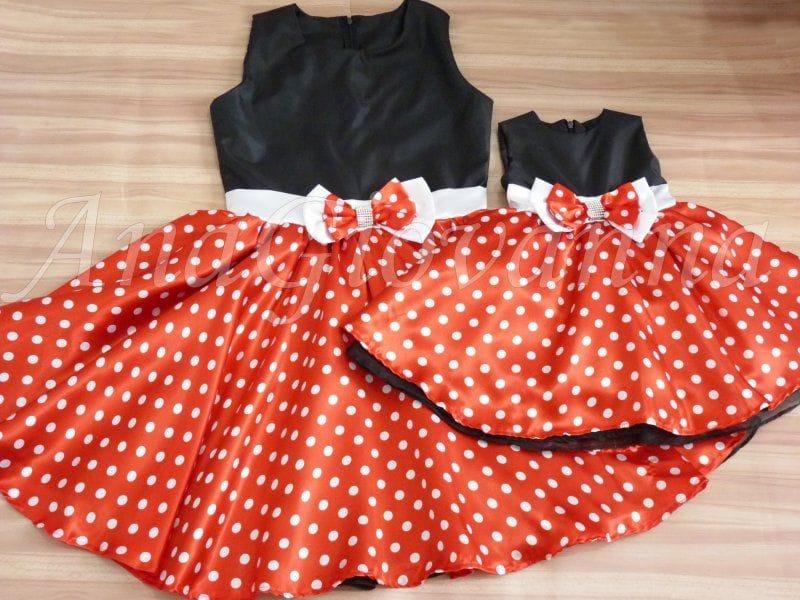 Vestidos Minnie Mãe e Filha