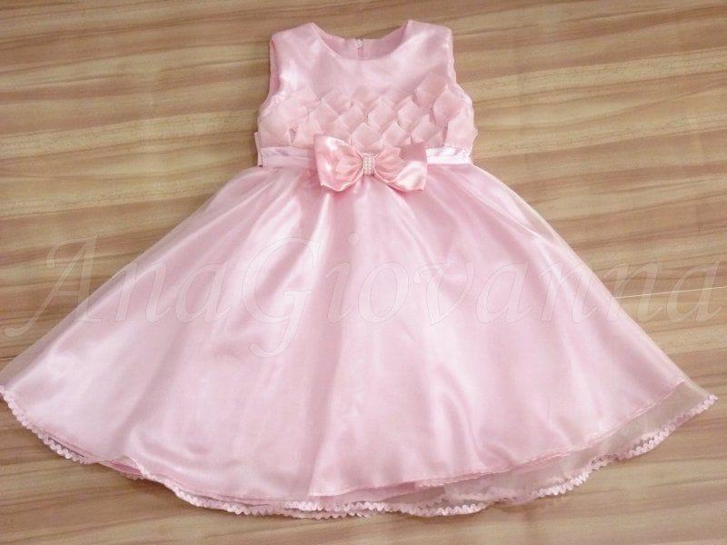Vestido infantil de festa Princesa para crianças