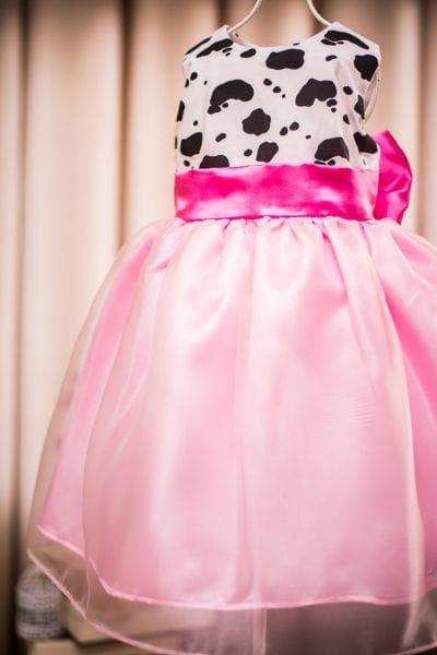 Vestido Infantil Fazendinha Pink Luxo