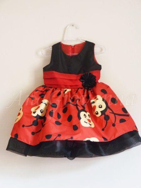 Vestido Joaninha Infantil Luxo