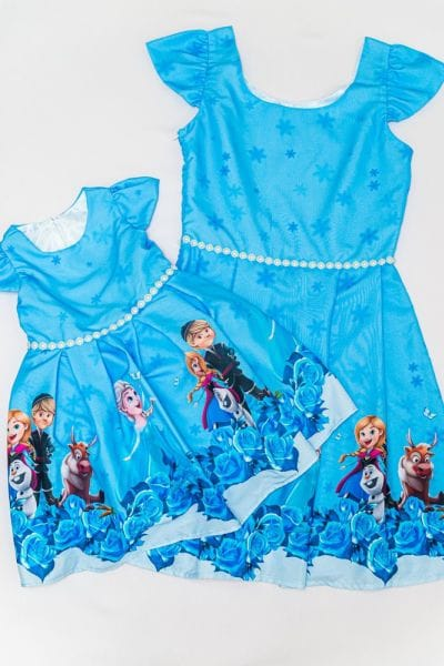 Vestidos Tal Mãe Tal Filha Frozen