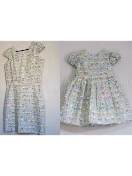 Vestidos Mãe e Filha Corujinha