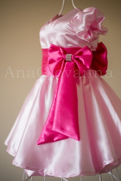 Vestido para Festa Infantil Princesa Rosa