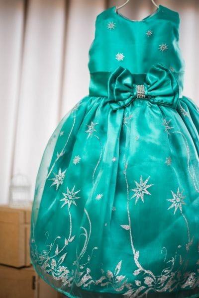 Vestido Festa Infantil Frozen Fever