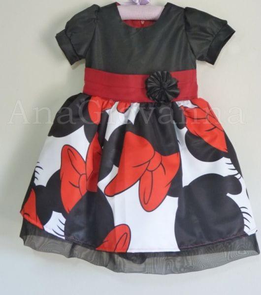Vestido Infantil da Minnie Luxo