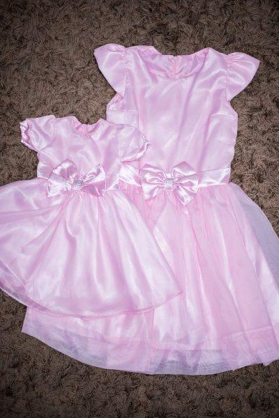 Vestidos Tal Mãe Tal Filha Rosa Festa Princesa