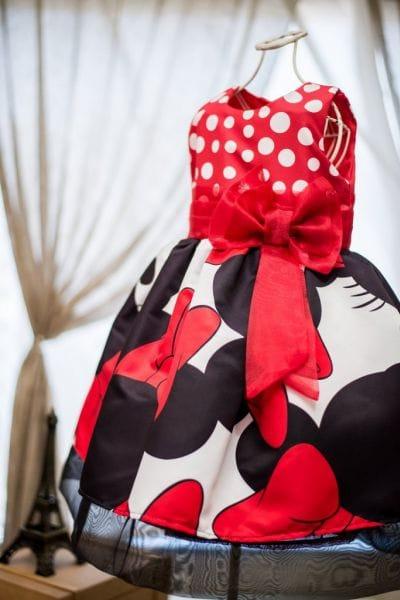 Vestido Festa da Minnie Vermelha Infantil Luxo