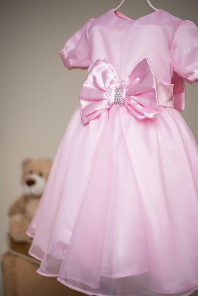 Vestido Infantil de Princesa Rosa para Festa