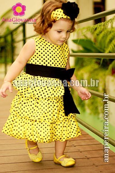 Vestido para Festa Infantil Abelhinha Balonê