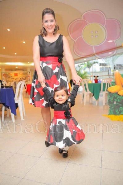 Vestidos da Minnie Mãe e Filha