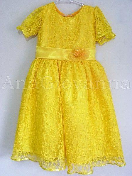 Vestido para Festa Infantil da Bela e a Fera