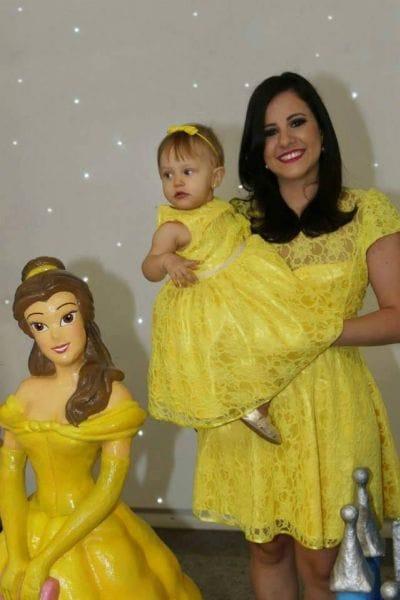 Vestidos Mãe e Filha da Bela e a Fera