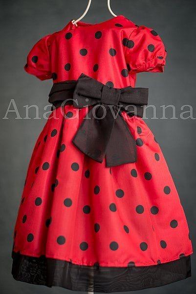 Vestido Infantil Lady Bug