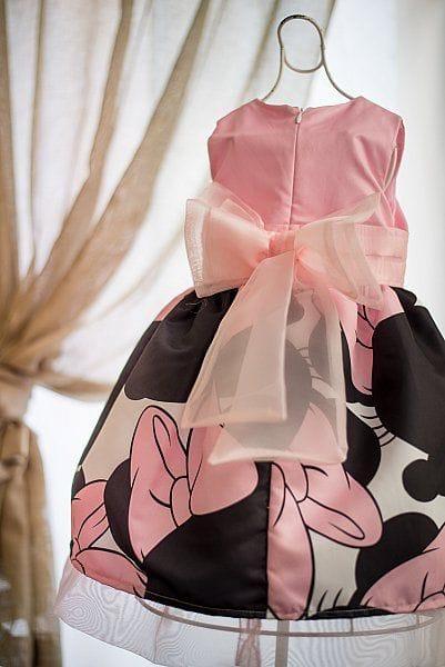 Vestido Minnie Rosa de Festa