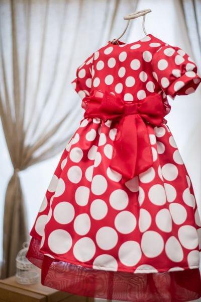 Vestido para Festa Minnie vermelha infantil