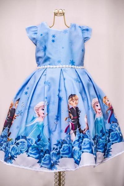 Vestido De Frozen Infantil