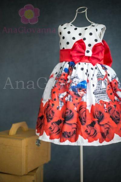 Vestido Aniversário LadyBug para Festa Infantil