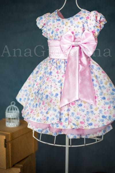 Vestido de Festa Infantil Passarinhos