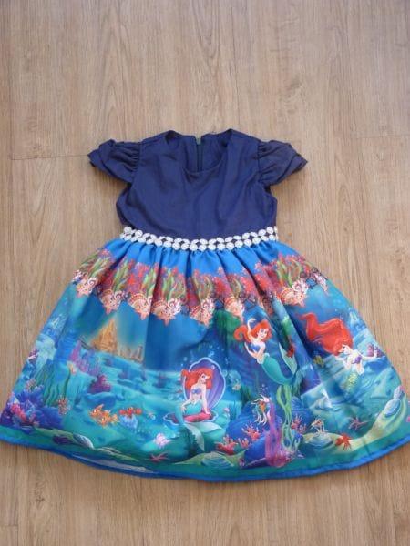 Vestido da Pequena Sereia