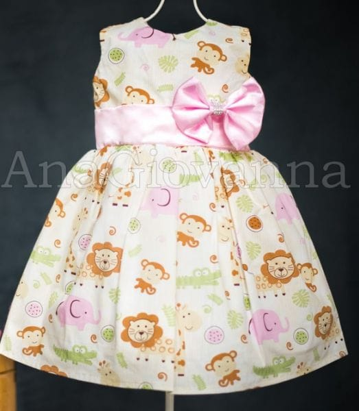 Vestido Infantil Safari para Festa de Aniversário