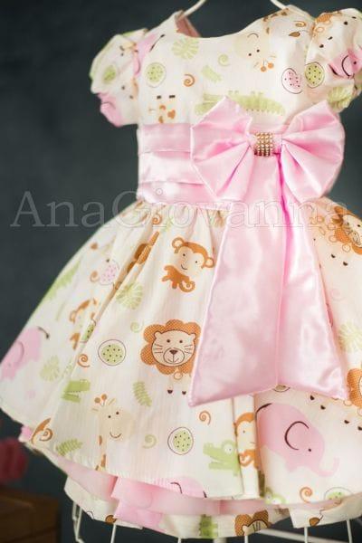 Vestido Infantil para Festa Safari