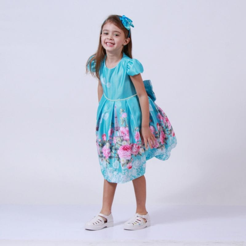 Vestido para Festa Infantil Florido Feminino